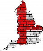 Постер, плакат: England Map On A Brick Wall