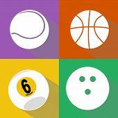 Постер, плакат: Sport Balls Vector Set