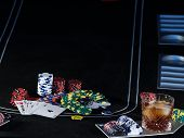 Black Poker Table