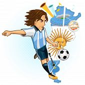Постер, плакат: Argentine Argentina Soccer Cup