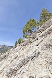 foto of granite dome  - Climbing Half Dome in Yosemite National Park USA - JPG
