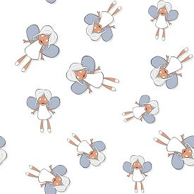 stock photo of banshee  - Seamless pattern with cartoon banshee on white background - JPG