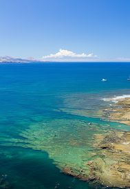 image of naturist  - Gran Canaria El Confital beach on the edge of Las Palmas La Isleta peninsula cloud - JPG