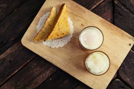 image of boil  - Boiled eggssoft-boiled egg and bread Yuan Serving breakfast