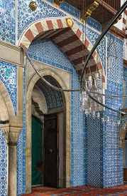 image of ottoman  - Interior of The Rustem Pasha Mosque is a 16th - JPG