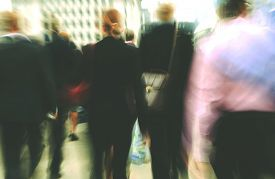 image of commutator  - Commuter Business People Commuter Crowd Walking Concept - JPG