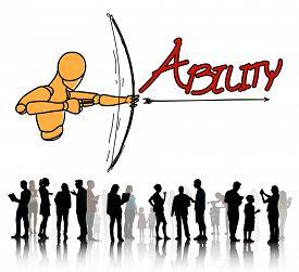 image of archery  - Ability Talent Strength Archery Aim Concept - JPG