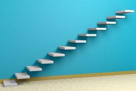 foto of plinth  - Business rise forward achievement progress way success and hope creative concept - JPG