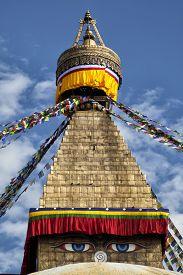 stock photo of tibetan  - The largest in Nepal - JPG