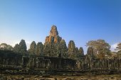 bayon temple in the sunset,Angkor,Cambodia