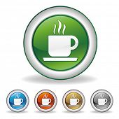 vector coffee icon set
