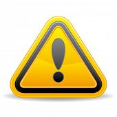 triangular warning sign on white background
