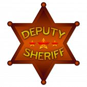 stock photo of criminology  - Deputy Sheriff abstract badge - JPG