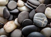 Sea Pebble, Sea Stones Background, Beach Rocks. Background From Sea Stones For Design. Abstract Back poster
