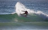 Slashing Surfer - Manly Beach