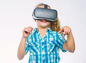 Virtual Education For School Pupil. Get Virtual Experience. Virtual Reality Concept. Kid Explore Mod poster