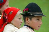 Children in traditional clothes, Romania
