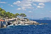 foto of hydra  - View from sea to Hydra island - JPG