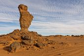 Balanced Rock In The Akakus Mountains, Sahara, Libya