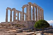 foto of poseidon  - Temple of Poseidon at Cape Sounion - JPG