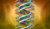 Dna Helix Abstract