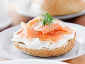 bagels and lox and sprig of dill