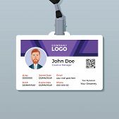 Corporate Identity Card Design Template. Horizontal Identity Card poster
