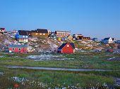 Ilulissat At Dusk In Summer, Greenland.