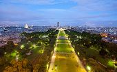 Champs De Mars From The Eiffel Tower At Night