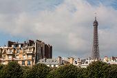 Parisian Buildings And Eiffel Tower