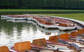 Row Boats On Water In A Paris Park
