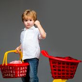 Buy With Discount. Family Shopping. Buy Products. Play Shop. Cute Buyer Customer Client Hold Shoppin poster