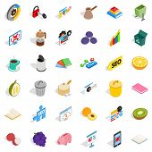 Labor Task Icons Set. Isometric Set Of 36 Labor Task Icons For Web Isolated On White Background poster