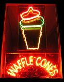 Waffle Cones Neon Sign