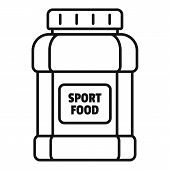 Sport Food Jar Icon. Outline Sport Food Jar Vector Icon For Web Design Isolated On White Background poster