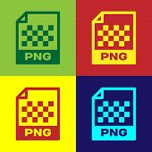 Color Png File Document Icon. Download Png Button Icon Isolated On Color Backgrounds. Png File Symbo poster