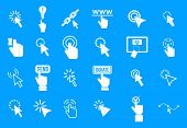 Cursor Icon Set. Simple Set Of Cursor Icons For Web Design Isolated On Blue Background poster