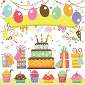 Retro Birthday Party Set