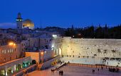 The Western Wall, also known at the Wailing Wall or Kote, is the remnant of the ancient wall that surrounded the Jewish Temple's courtyard in jerusalem, Israel. poster