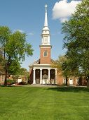 Big Red Brick Church In The Country