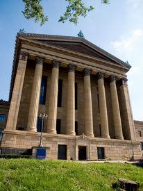 picture of pma  - Stock photo of the exterior of the Philadelphia Museum of Art - JPG