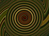Abstract showy in the shape of whirlpool green untaut color