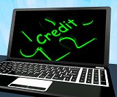 Credit Puzzle On Laptop Shows Ecommerce