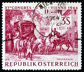 Postage stamp Austria 1964 Changing Horses at Bavarian Border