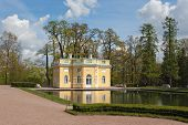 picture of tsarskoe  - Upper Bath pavilion in Catherine park of Tsarskoe Selo Sankt - JPG