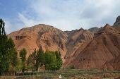 stock photo of landforms  - Danxia landform in GanSu of China - JPG