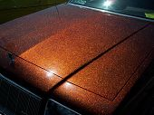 Beautiful Brown Metal Flake Car Hood. American.