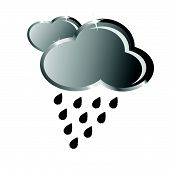 Cloud From Which Rain Falls Vector Illustration
