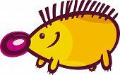 Funny Hedgehog Cartoon Illustration
