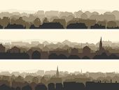 Horizontal Illustration Of Big European City.